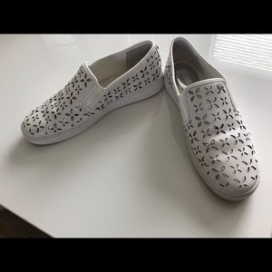 Shoes - Micheal Kors white slip on sneakers size 10